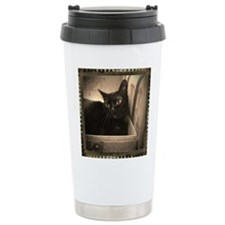 Box Cat, sepia 1 Travel Mug