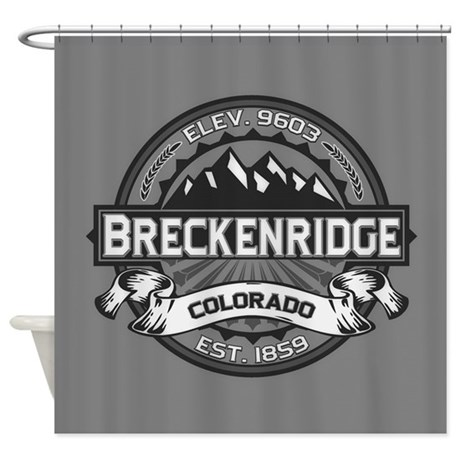 Breckenridge Grey Shower Curtain
