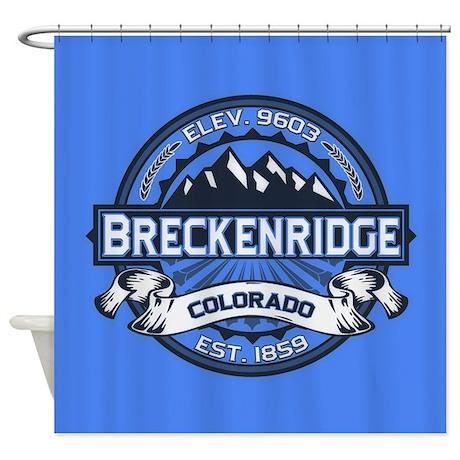 Breckenridge Blue Shower Curtain