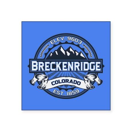 """Breckenridge Blue Square Sticker 3"""" x 3"""""""