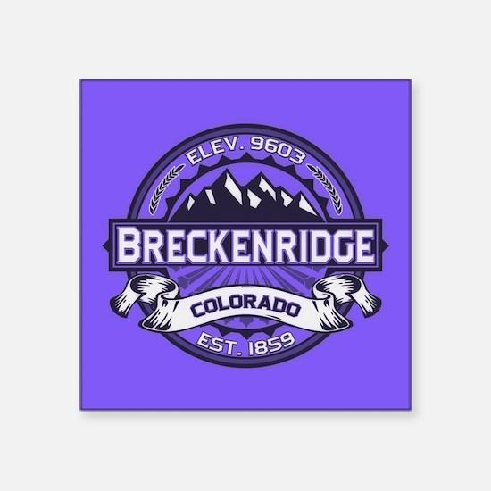 """Breckenridge Purple Square Sticker 3"""" x 3"""""""