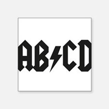"ABCD Kids' Shirt Square Sticker 3"" x 3"""