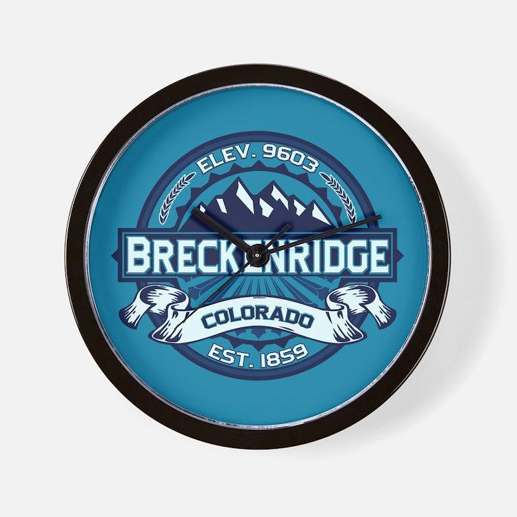 Breckenridge Ice Wall Clock