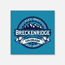 "Breckenridge Ice Square Sticker 3"" x 3"""
