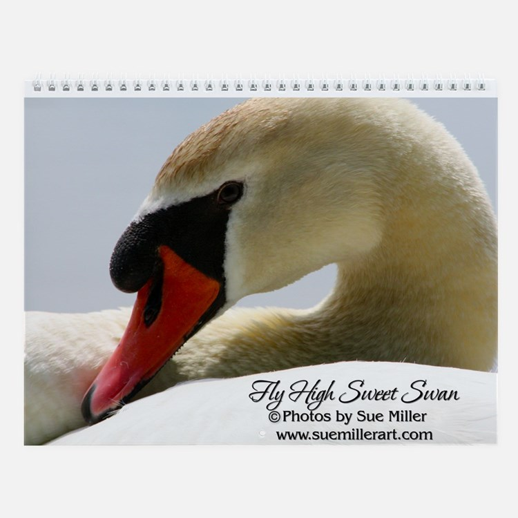 Swan Cob Wall Calendar by Sue Miller