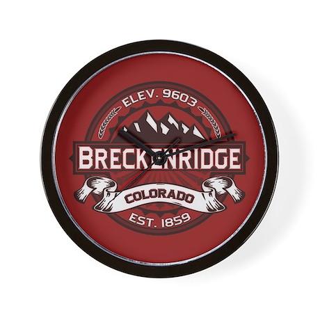 Breckenridge Red Wall Clock
