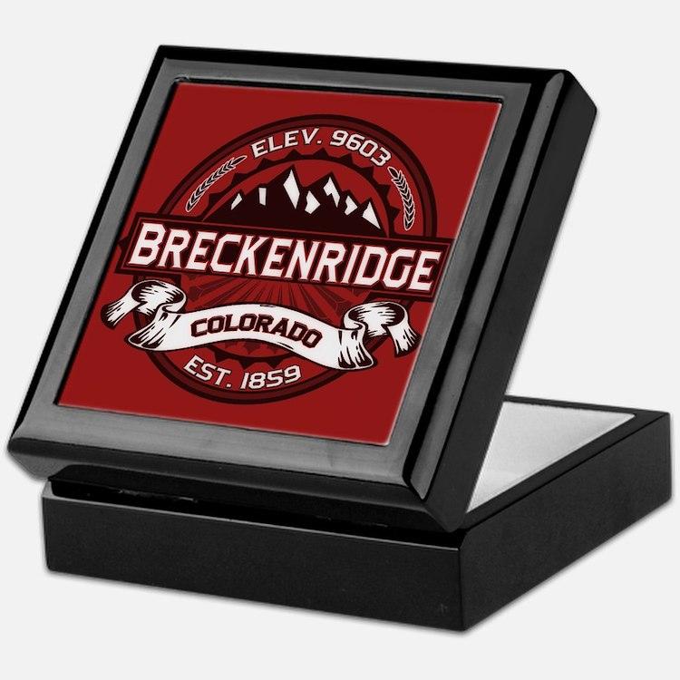 Breckenridge Red Keepsake Box