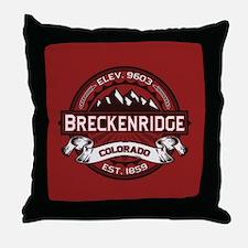 Breckenridge Red Throw Pillow