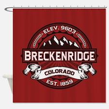 Breckenridge Red Shower Curtain