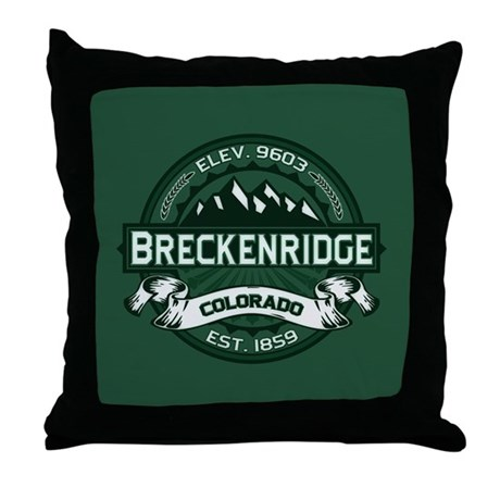 Breckenridge Forest Throw Pillow