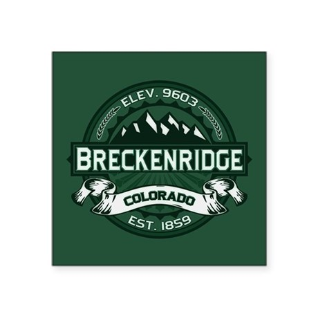 "Breckenridge Forest Square Sticker 3"" x 3"""