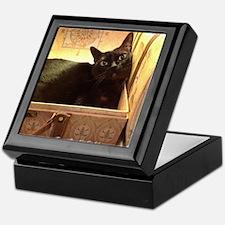 Box Cat, Gold 3 Keepsake Box