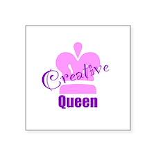 """Creative Queen Square Sticker 3"""" x 3"""""""