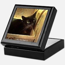 Box Cat, Gold 2 Keepsake Box