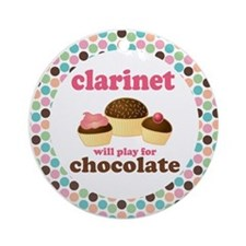 Clarinet Will Play For Chocolate Ornament (Round)