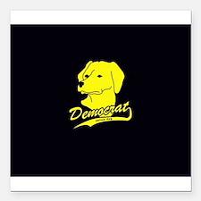 "Yellow Dog Democrat Square Car Magnet 3"" x 3"""