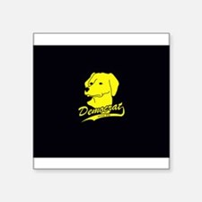 "Yellow Dog Democrat Square Sticker 3"" x 3"""