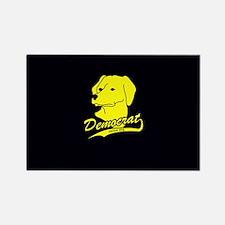 Yellow Dog Democrat Rectangle Magnet