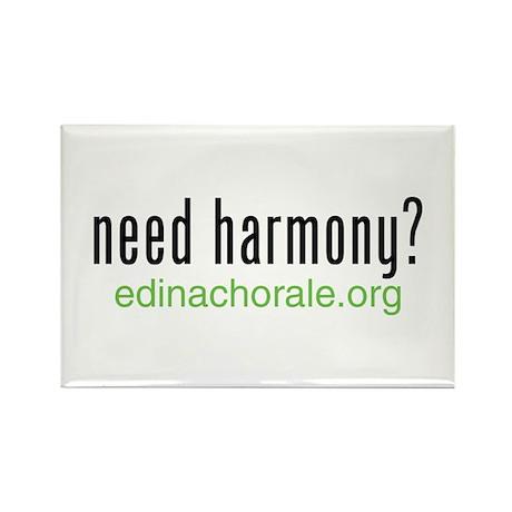 Need Harmony - Edina Chorale Rectangle Magnet