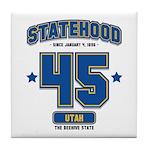 Statehood Utah Tile Coaster