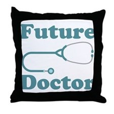 Future Doctor With Stethoscope Throw Pillow