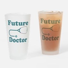 Future Doctor With Stethoscope Drinking Glass