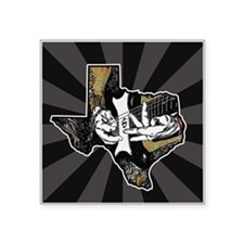 "Texas Guitar Square Sticker 3"" x 3"""