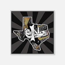 """Texas Guitar Square Sticker 3"""" x 3"""""""