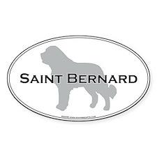 Saint Bernard Oval Decal
