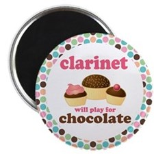 Clarinet Play For Chocolate Magnet