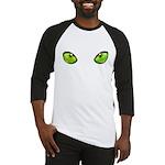 cat eye green Baseball Jersey