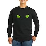 cat eye green Long Sleeve Dark T-Shirt