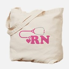 Heart RN Stethoscope Tote Bag