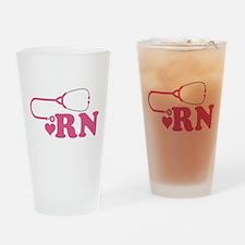 Heart RN Stethoscope Drinking Glass