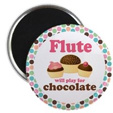 Flute Will Play For Chocolate Magnet
