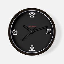 Wall Clock - Chess symbols