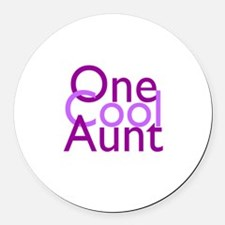 One Cool Aunt Round Car Magnet