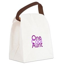 One Cool Aunt Canvas Lunch Bag