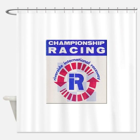 Riverside Raceway Shower Curtain
