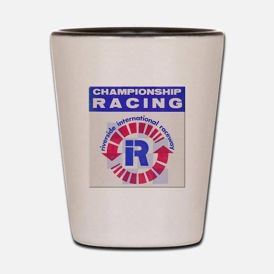 Riverside Raceway Shot Glass