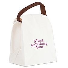 Most Fabulous Aunt Canvas Lunch Bag