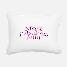 Most Fabulous Aunt Rectangular Canvas Pillow