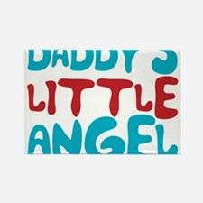 Daddy's Little Angel Rectangle Magnet
