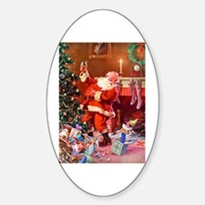 It Was The Night Before Christmas Sticker (Oval)