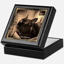 Box Cat, sepia 5 Keepsake Box