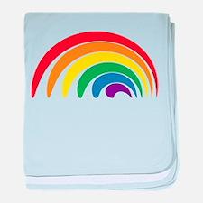 Funky Rainbow baby blanket