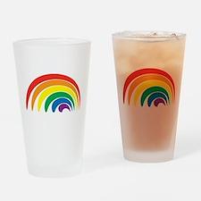 Funky Rainbow Drinking Glass