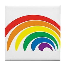 Funky Rainbow Tile Coaster