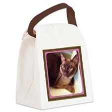 Champagne Burmese Box Cat Canvas Lunch Bag