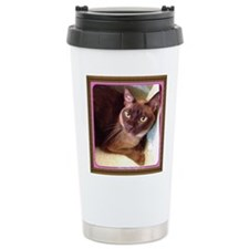Champagne Burmese Box Cat Travel Mug